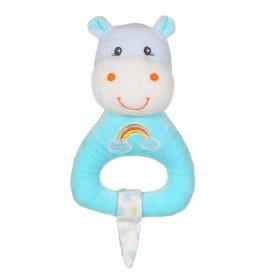 Hochet Rainbow hippopotame - 15 cm