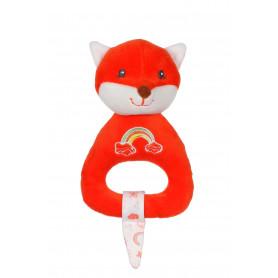 Hochet Rainbow renard - 15 cm