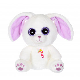 Sweet Candy Pets lapin blanc mauve - 25 cm