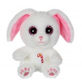 Sweet Candy Pets lapin blanc rose - 25 cm