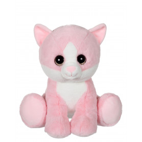 Puppy Eyes Pets Color chat rose - 22 cm