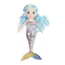 """Sirène """"Azura"""" - 30 cm - cheveux bleus"""