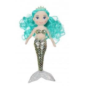 """Sirène """"Océana"""" - 30 cm  - cheveux vert d'eau"""