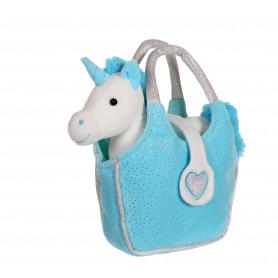 Lovely bag licorne turquoise - sac turquoise 20 cm