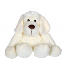 Chien Flatoutou blanc - 50 cm