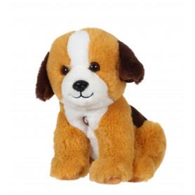 Chien Mimi dogs sonore marron clair et marron foncé - 18 cm