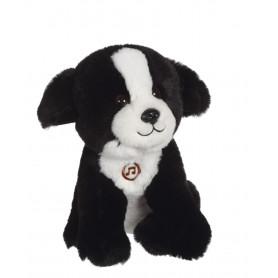 Chien Mimi dogs sonore noir et blanc - 18 cm