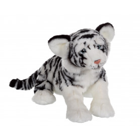Fauve allongé 30 cm - tigre blanc
