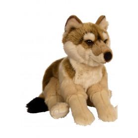 Loup allongé marron - 30 cm