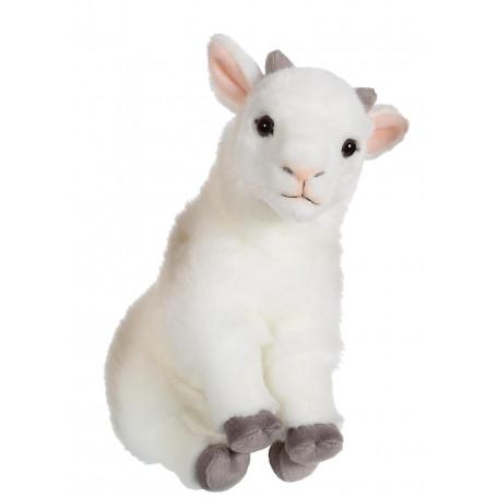 Bébé biquette blanche - 26 cm