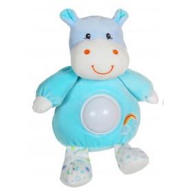 Veilleuse Rainbow Hippopotame - 20 cm