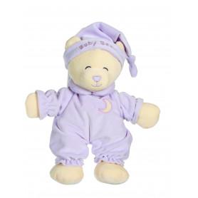 Ours Baby bear douceur parme - 24 cm