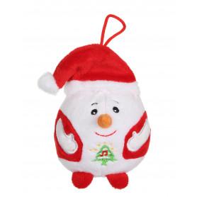 Bonhomme de neige - Bouille de Noël sonore 13 cm