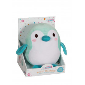 Baby Squishi 22 cm - pingouin vert