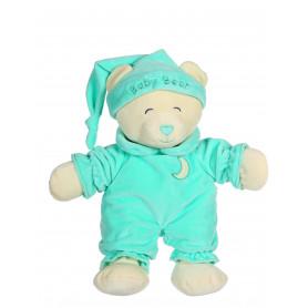 Ours Baby bear douceur vert menthe - 24 cm