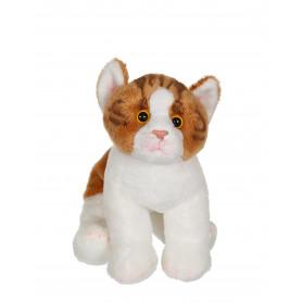 Chat Floppikitty - roux et blanc 22 cm