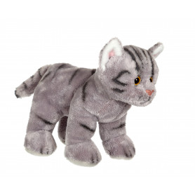 Chat Floppikitty - gris 22 cm