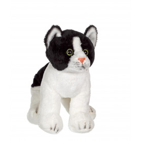 Chat Floppikitty - noir et blanc 22 cm