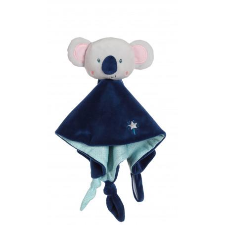 """Carré doudou """"Les p'tits féeriques"""" koala - 24 cm"""
