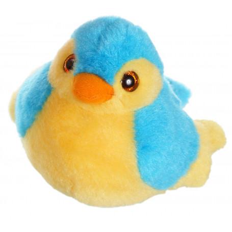 Oiseau sonore birdies 14 cm - bleu clair