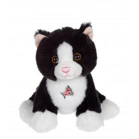Dogz & kats sonores 18 cm - chat noir et blanc
