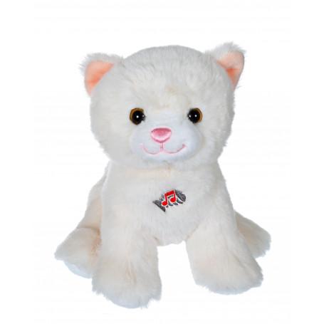 Dogz & kats sonores 18 cm - chat blanc