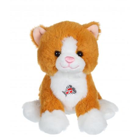 Dogz & kats sonores 18 cm - chat roux