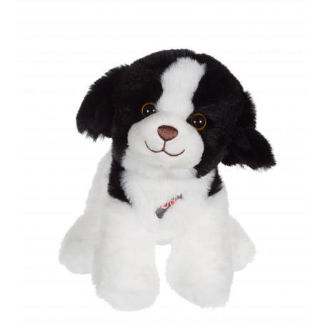 Dogz & kats sonores 18 cm - chien noir et blanc