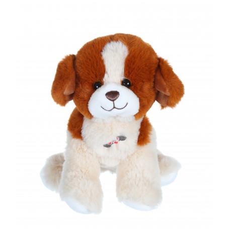 Dogz & kats sonores 18 cm - chien beige et marron