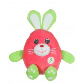 Funny Eggs sonores 15 cm - lapin rose et vert