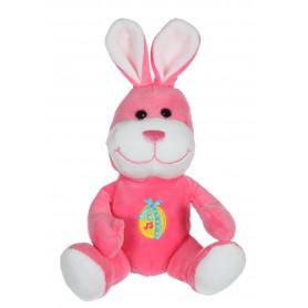 Les copains de Pâques musicaux 15 cm - lapin rose