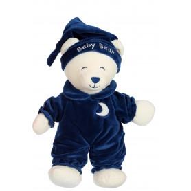 Ours Baby bear douceur bleu marine - 24 cm