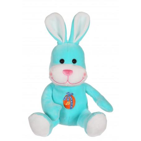 Les copains de Pâques musicaux 15 cm - lapin bleu