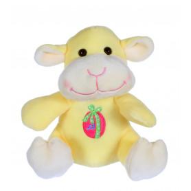 Les copains de Pâques musicaux 15 cm - agneau jaune