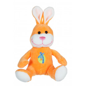 Les copains de Pâques musicaux 15 cm - lapin orange