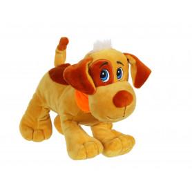 Chien Happy pups sonore 17 cm - sable et marron