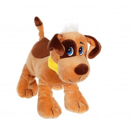 Chien Happy pups sonore 17 cm - marron