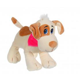 Chien Happy pups sonore 17 cm - beige et marron