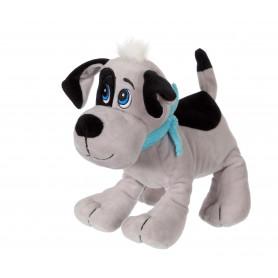 Chien Happy pups sonore 17 cm - gris et noir