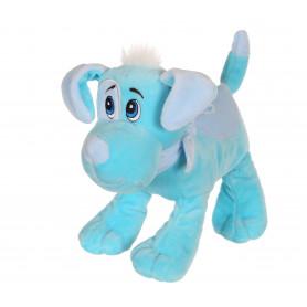 Chien Happy pups sonore 17 cm - bleu