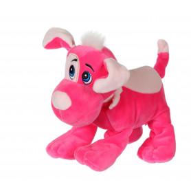 Chien Happy pups sonore 17 cm - rose