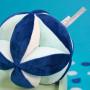 Balle sensorielle bleue 12 cm s/carte