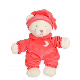 Ours Baby bear douceur corail - 24 cm