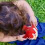 Oiseau sonore birdies 14 cm - rouge