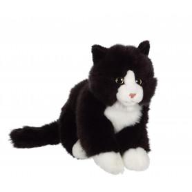 Chat Mimiz noir et blanc - 28 cm