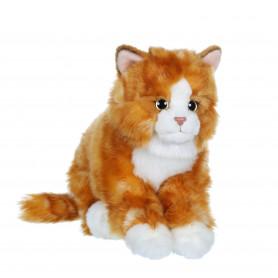 Chat Mimiz roux et blanc - 28 cm