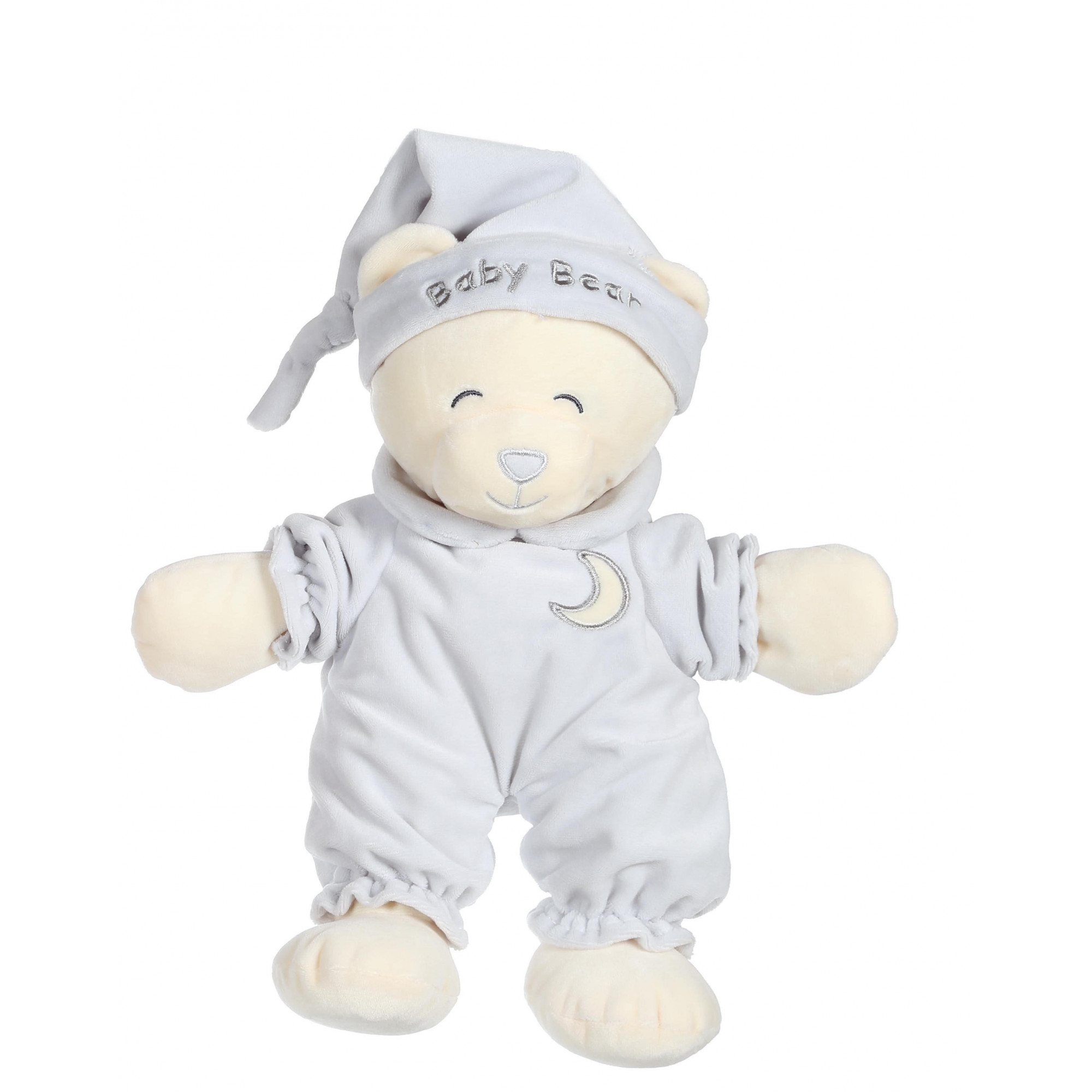 Ours Baby bear douceur gris - 24 cm