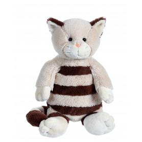 Chat Frizzy Kitty XL beige à rayure marron XL - 30 cm