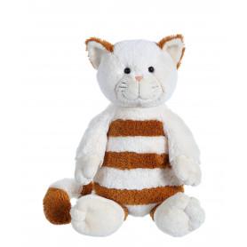 Chat Frizzy Kitty XL crème à rayure marron XL - 30 cm