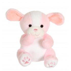 Cute doggy rose et blanc - 18 cm